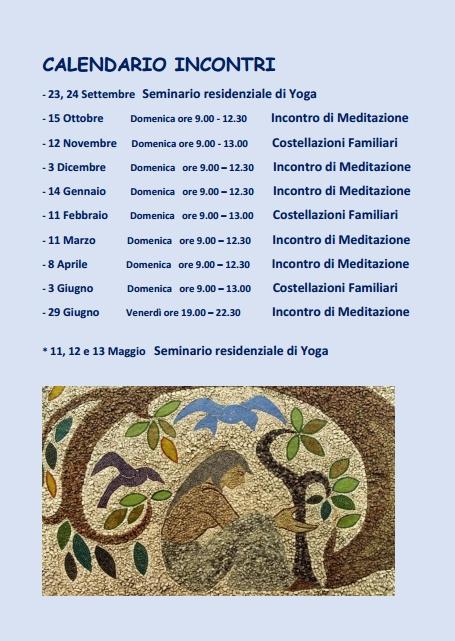 Calendario Inconri 2017-18